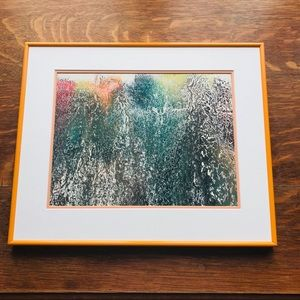 Hand crafted acrylic flow on glass